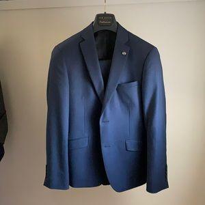 TED BAKER Mid-Blue Birdseye Suit